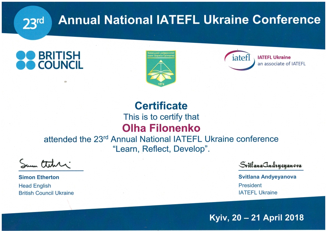 IATEFL-Olga