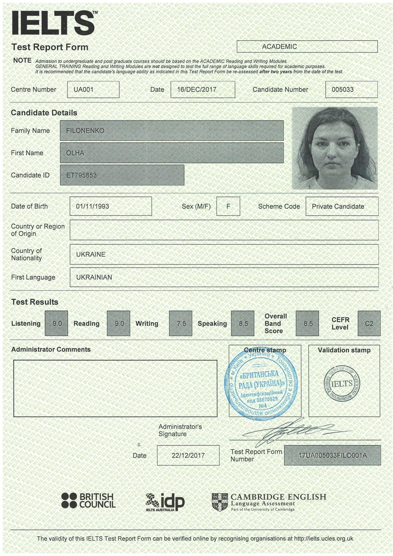 Olya-IELTS-8.5